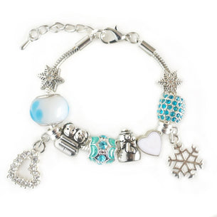 Ice Princess 'Frozen' Charm Bracelet
