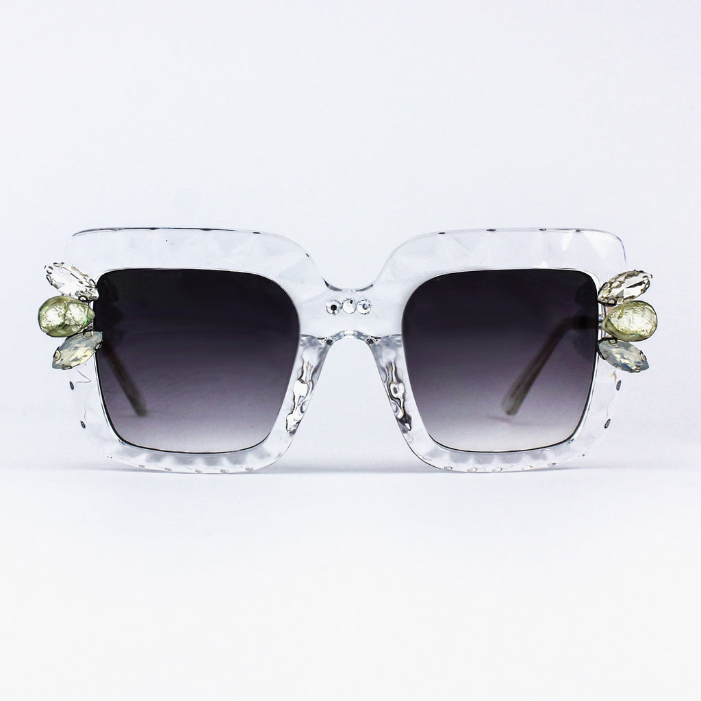 Maude Crystal Clear Prism Sunglasses