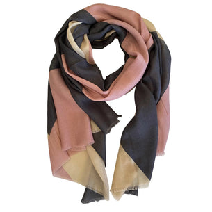 Pink/Grey Block Scarf
