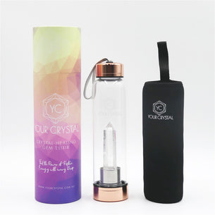 Your Crystal Crystal Water Bottle - Clear Quartz