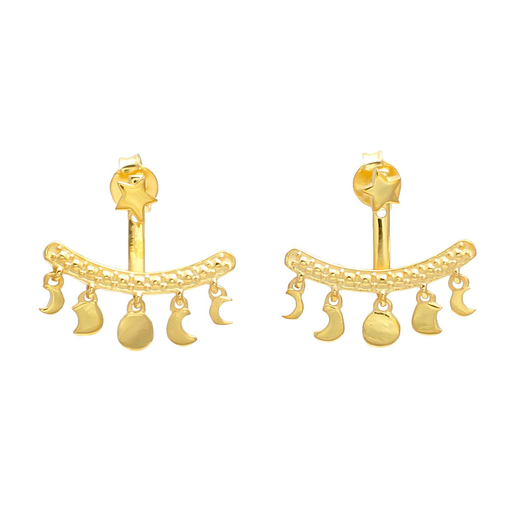 KYOTI GOLD VERMEIL MOON PHASES EAR JACKET