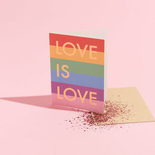 Love is Love - Eco Glitter Card