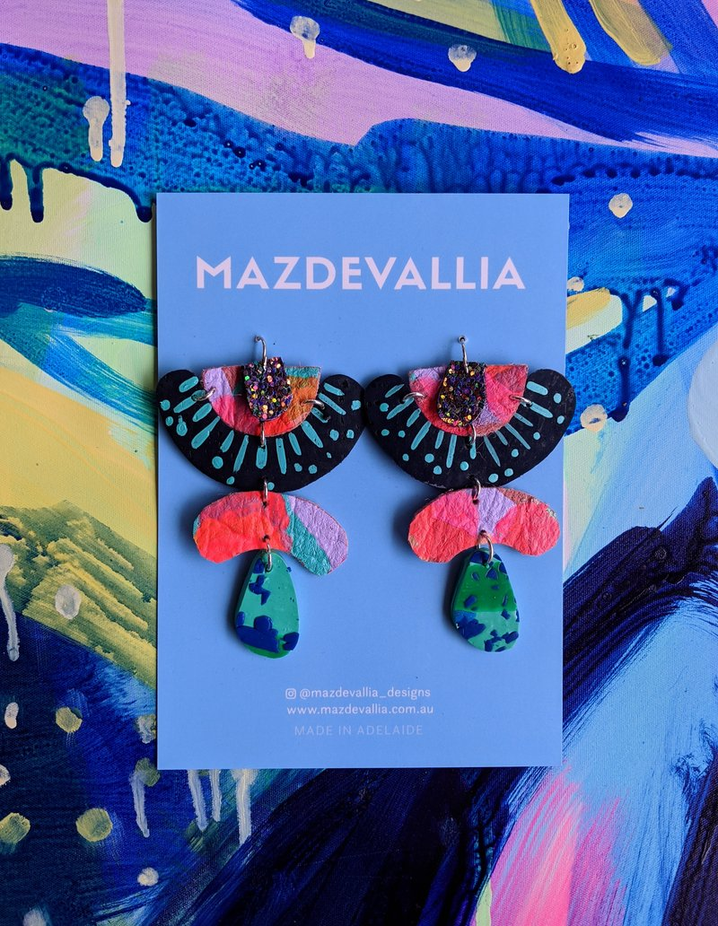 Mazdevallia Lanternfish Statement Earrings