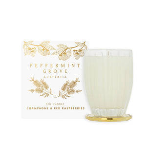 Peppermint Grove CHRISTMAS CANDLE - Champagne & Raspberries