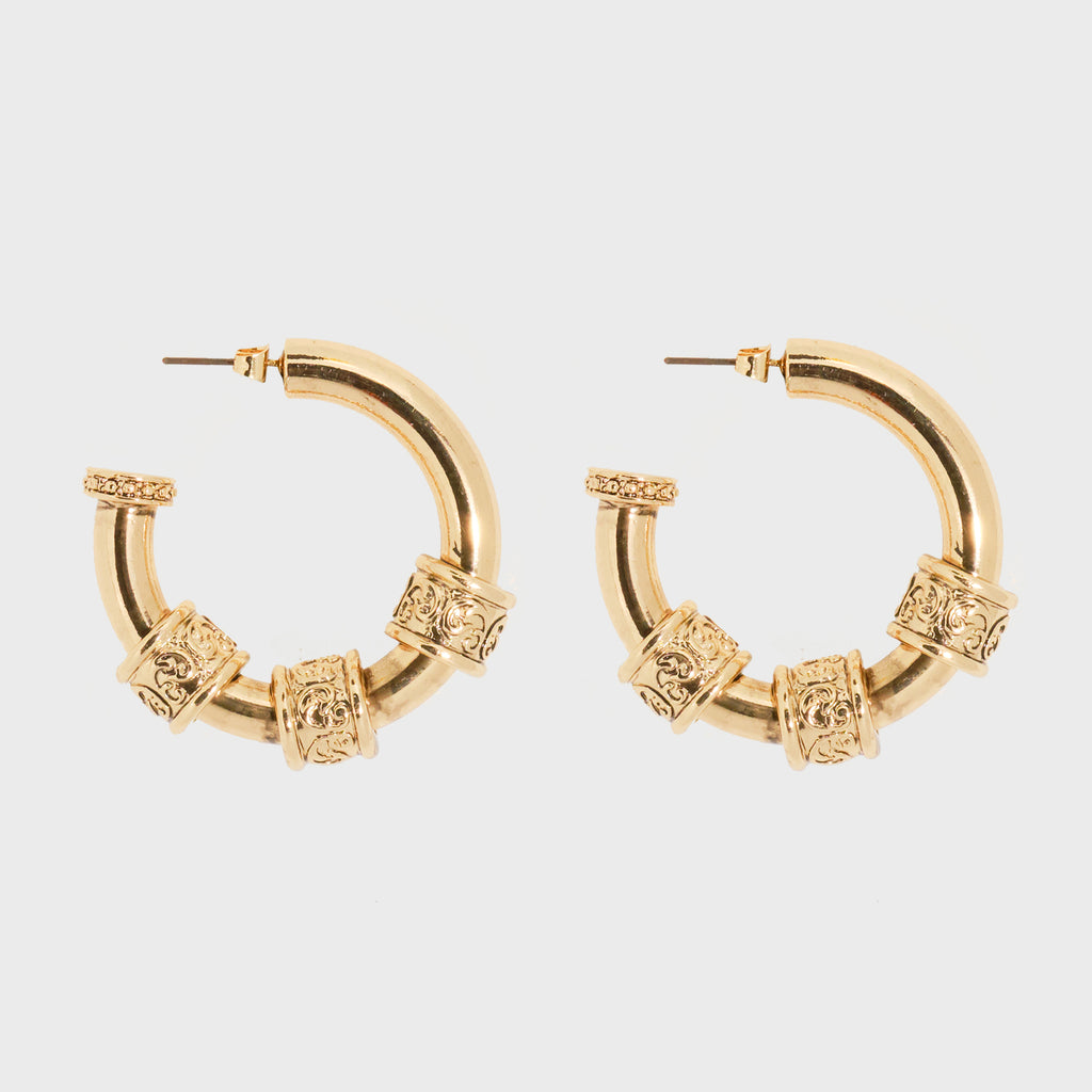 Bling Bar Mattia Hoops