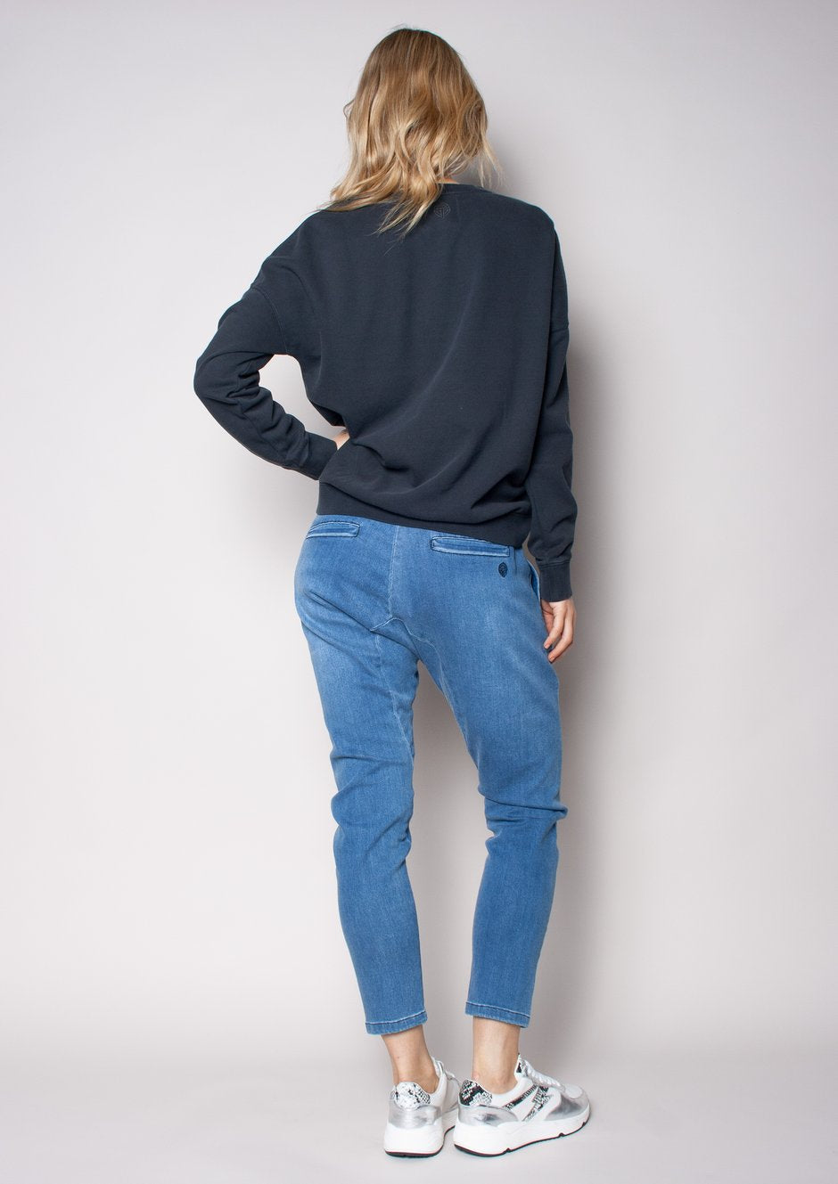 The Drop Crotch Pant - Mid Blues