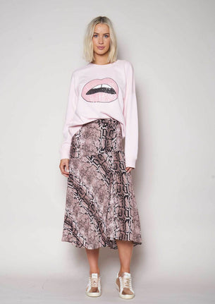 We Are The Others Drifter Skirt - Pink Snake