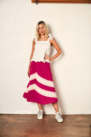 We Are The Others HORIZON SKIRT - HOT PINK