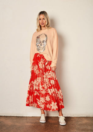 The Sunray Skirt - Ruby Bloom
