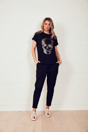 We Are The Others The Relaxed Tee - Black w/ Foil Skull
