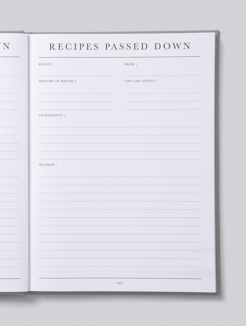 Write To Me Recipes Passed Down - Stone