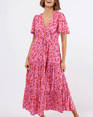 Label of Love Sophia Maxi Dress - Pink Leopard