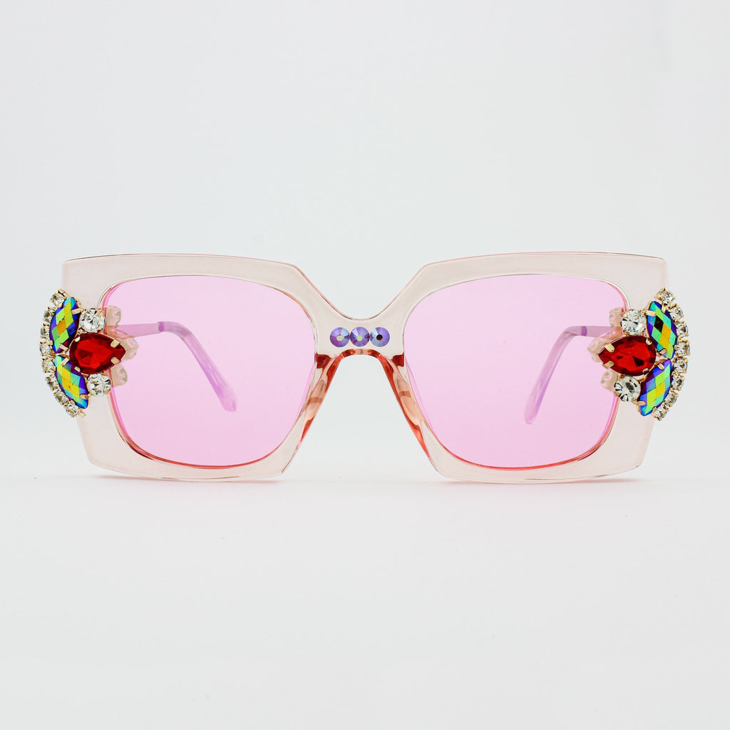 Iridescent Rose Quartz Sunglasses