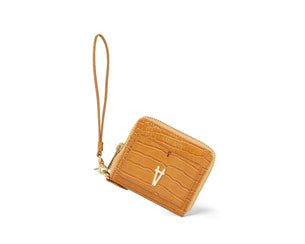 sans beast Petite Insider Wallet - Ox Maple Croco