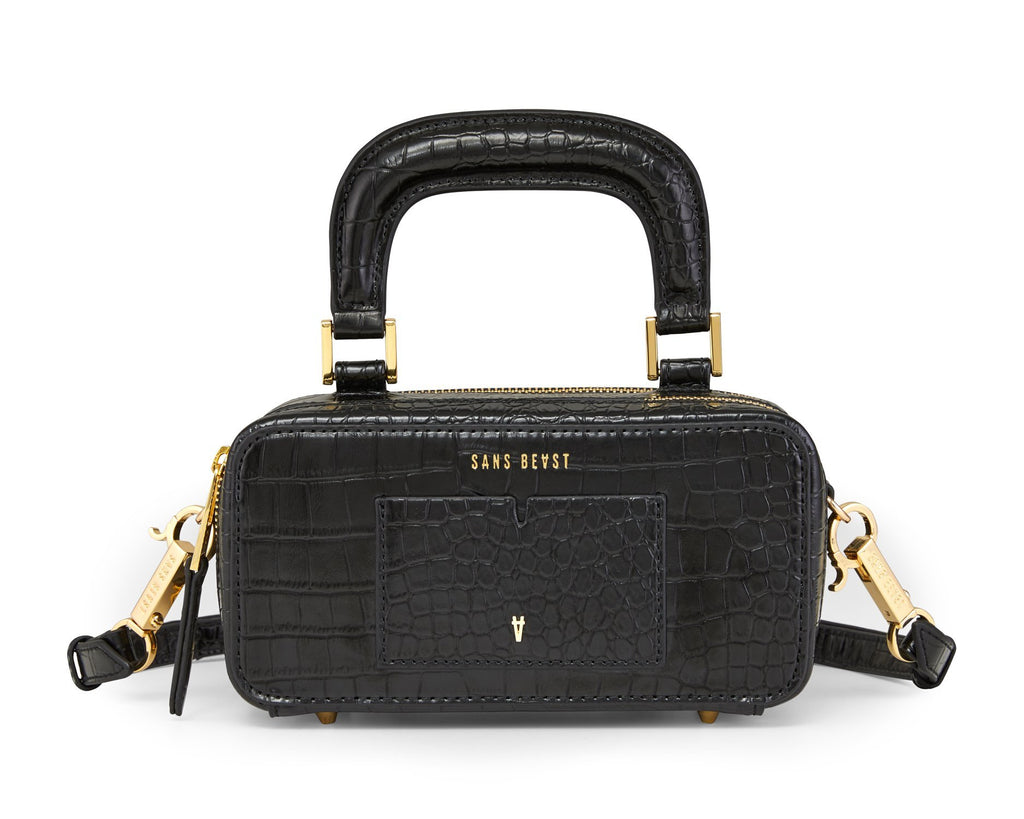 Sans Beast Journey Cross Body/Hip Bag - Noir Croco