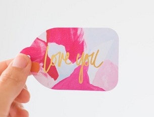 Love You Gold (Foil) - Gift Tag