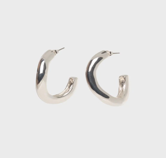VALENTINA HOOPS POLISHED SILVER