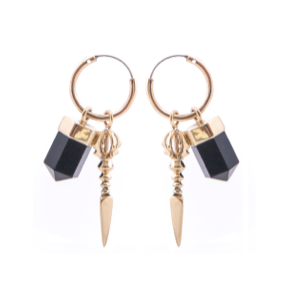 Rock 'n' Rolla Charmed Earrings - Gold