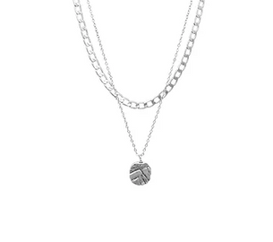 bling bar sale Odine Double Necklace - Silver