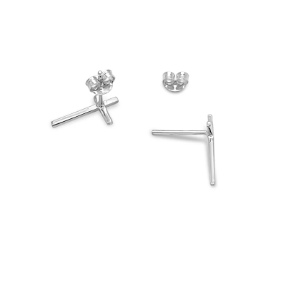 Sterling Silver Cross Studs