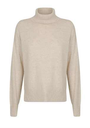 Angelica Roll Neck - Oatmeal