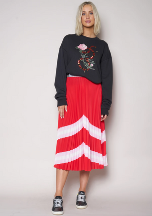 We are The Others Sunray Skirt - Horizon Pink/Red