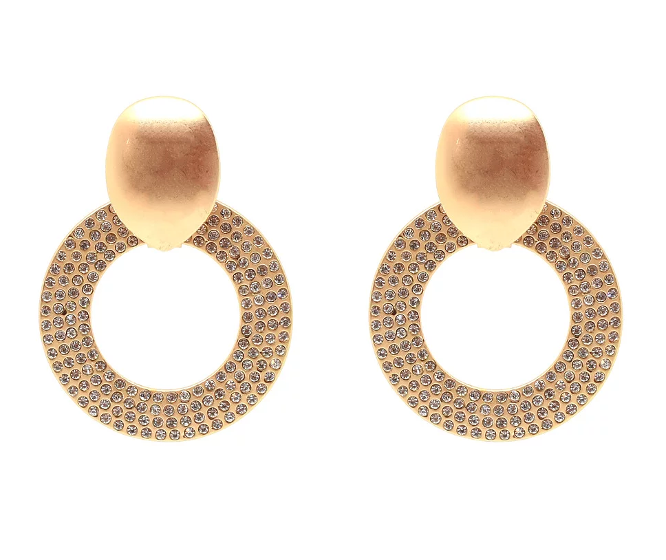 Bling Bar Jolie Crystal Hoops sale