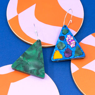 Lellie Terrazzo Triangle with Blue/Green