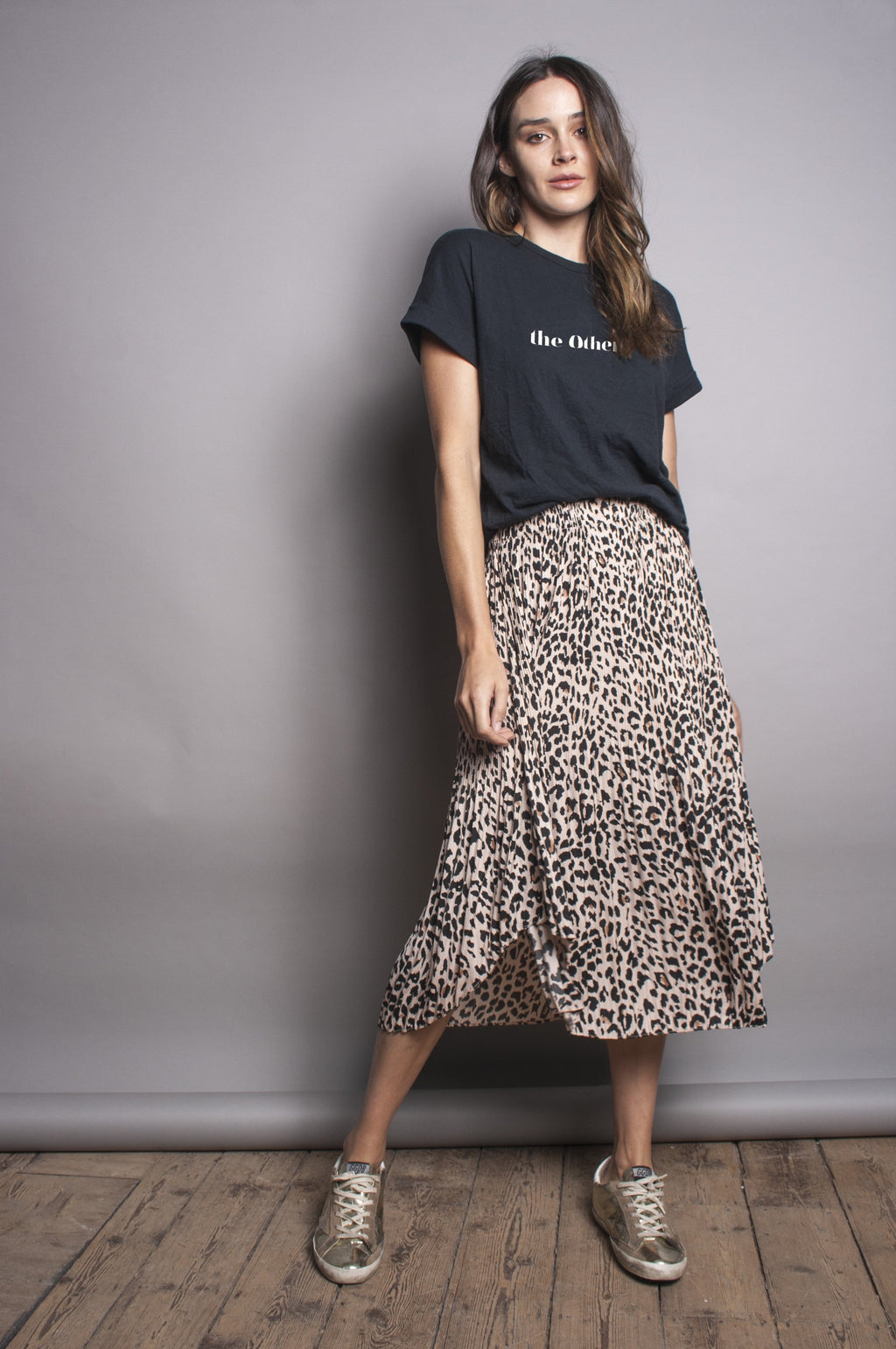 We Are The Others Pleated Skirt - Leopard