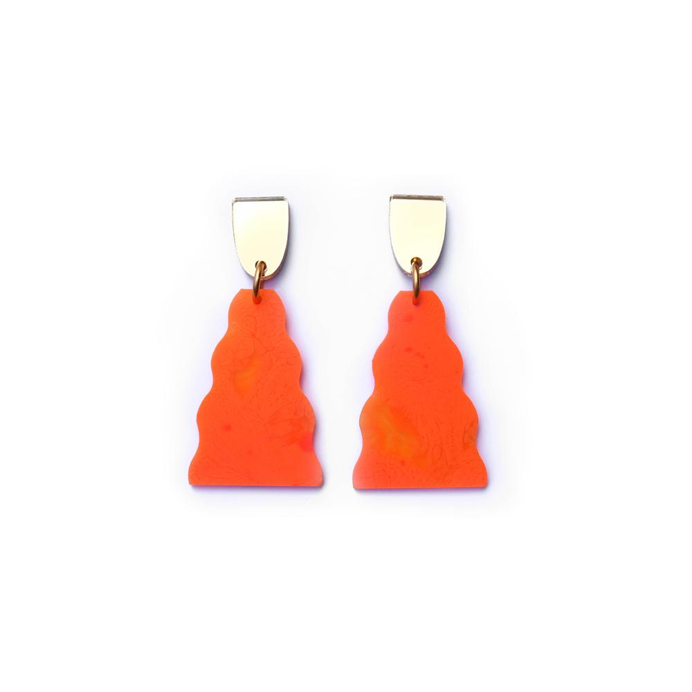 Concrete Jellyfish Waterfall | Midi | Neon Matte Orange