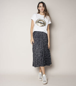 Sunray Skirt - Black Stars