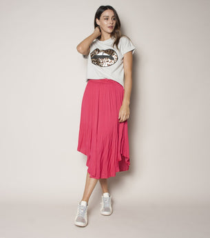 Pleated Skirt - Cherry
