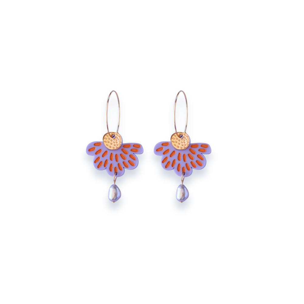 Concrete Jellyfish Petal & Pearl - Lavender and Peach