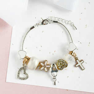 Christening/Communion Cross Charm Bracelet