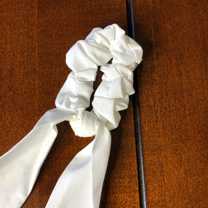 White Ribbon Scrunchie