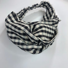 Load image into Gallery viewer, Plaid Knotted Headband