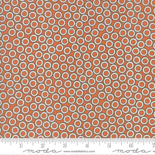 Tangerine Circles - Treehouse club - brought to you by Moda - Fabric and Frills