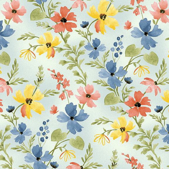 Blessings Floral in Cream by Jane Allison for Henry Glass - Fabric and Frills