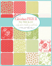 Load image into Gallery viewer, Christmas Figs 2 - 5 inch squares Fig Tree Quilts for Moda