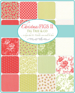 Christmas Figs 2 - 5 inch squares Fig Tree Quilts for Moda