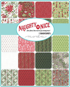 Naughty or Nice (8) Fat Quarters by BasicGrey for Moda