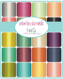 Moda Fairy Dust Ombre (8) Half Yard Bundle by V and Co.
