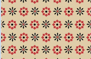 Copy of Wigglebutts Beige Geometric Flower yardage by Dan DiPaolo for Clothworks