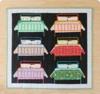 Snooze - Quilt Kit featuring Bungalow Fabric Collection designed by Amy Gibson for Windham Fabrics - Fabric and Frills