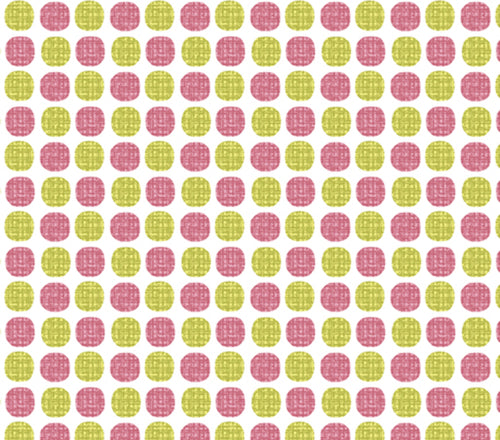 Choose to Shine-Wish Dot Raspberry and Lime Polka Dots by Cherry Blossoms Studio for Benartex - Fabric and Frills