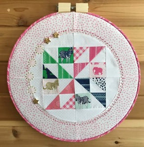 Hoop Quilt by Annemarie Chany of GenX Quilters - Fabric and Frills