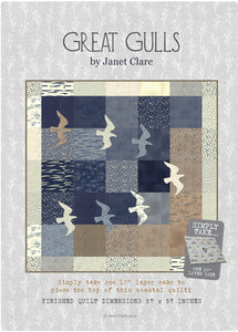 Great Gulls Quilt by Janet Claire - Layer Cake Friendly