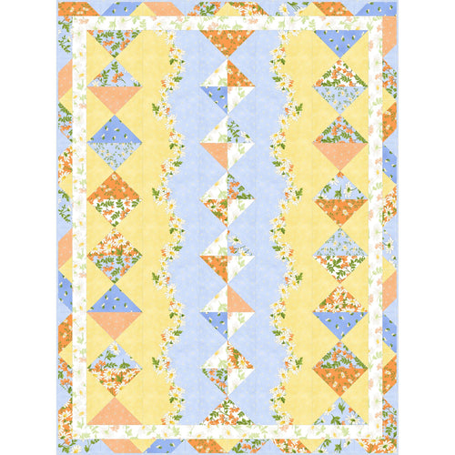 Fresh as a Daisy Quilt Kit - Fabric and Frills