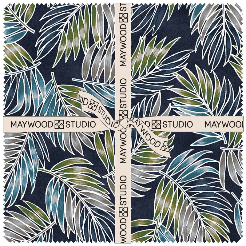 Turtle Bay 10 inch squares by Maywood Studio - Fabric and Frills