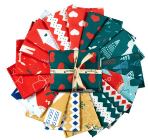 Scandinavian Christmas (8) Fat Quarter Bundle by Paint Brush Studios